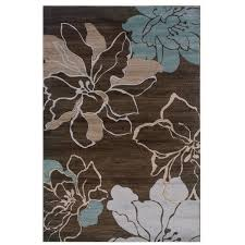 Area Rugs With Turquoise And Brown Linon Milan Collection Brown Turquoise Area Rug 8 X 10 3