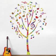music note tree sticker decal music note tree wall decal