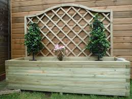 large wooden planters for patio decoration margarite gardens