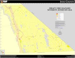 Cal State Map by Cal Fire Inyo County Fhsz Map