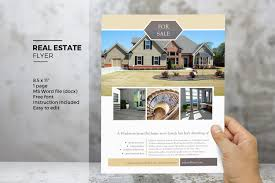 Real Estate Listing Flyer Template Free by Ms Word Real Estate Flyer Template Flyer Templates Creative Market