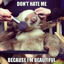 Make A Sloth Meme - don t hate me because i m beautiful beautiful sloth make a meme