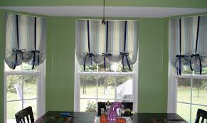 Country Style Window Curtains Kitchen Country Style Stripes Kitchen Window Curtain Ideas With