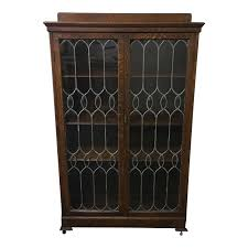 vintage leaded glass curio cabinet design plus gallery