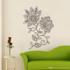 mehndi wall decals vinyl removable mandala lotus wall stickers mehndi wall decals vinyl removable mandala lotus wall stickers home decor living room flower art murals design pattern sticker large stickers for walls