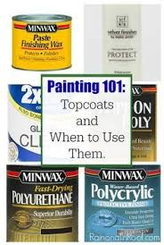Do It Spray Paint - all your questions answered about using wax or polycrylic over