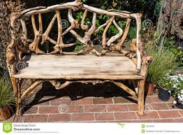 Rustic Wooden Garden Furniture Rustic Wooden Bench Royalty Free Stock Photography Image 29925527