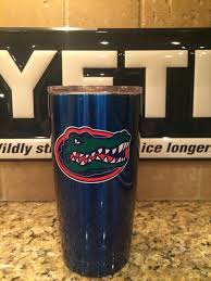 custom yeti rambler tumblers and bottles in candy blue with gators yeti rambler tumbler coated candy blue florida gators in home garden yard garden outdoor living outdoor cooking eating ice chests coolers