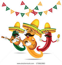 cartoon cinco de mayo cinco de mayo mariachi jalapeno band stock vector 2018 173862983