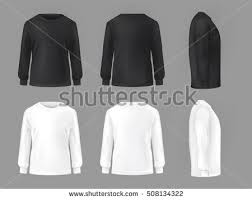 long sleeve t shirt template vector download free vector art