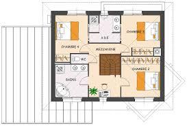plan de maison en l avec 4 chambres plan de maison contemporaine 4 chambres avec dressing et garage
