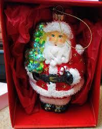 krebs glass ornament santa bearing tree handblown ebay krebs