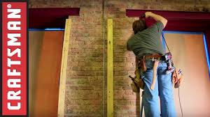 how to cover a brick wall with drywall craftsman youtube