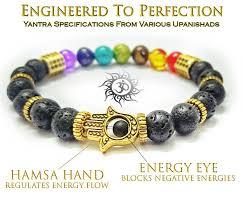 balance bracelet energy images Ancient yantra lava stone with 96 black cosmic energy crystals jpg