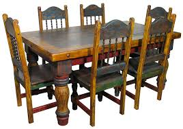 mexican dining table set mexican country style painted dining table and chairs this elegant 3