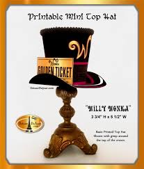15 off20 top hat willy wonka hat printable willy wonka top