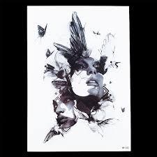 1pc black fake butterfly women men head picture styling