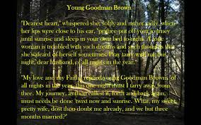 Critical essay for young goodman brown