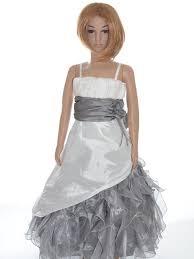 robe de mariã e grise et blanche robes de communion fille tenue pour communion fille petit prix aube