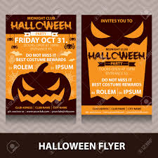 halloween card invitation vector illustration minimal and flat
