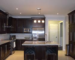 Espresso Kitchen Cabinets Shaker Style Espresso Kitchen Cabinets Light Floors Light