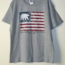 Flag T Shirt North American Bear Center American Flag Youth Bear T Shirt