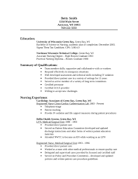 Example Nursing Resumes by Resume Format For Nursing Staff