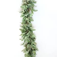deluxe artificial s ear and twig garland in green8