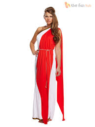 Roman Goddess Halloween Costumes Ladies Greek Roman Grecian Goddess Toga Fancy Dress Womens