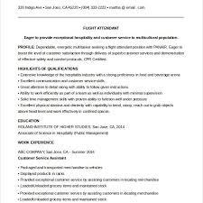 Resume Flight Attendant Download Entry Level Flight Attendant Resume