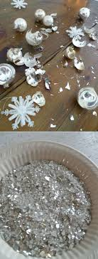 turn those broken ornaments into glitter 41 ways to reuse your