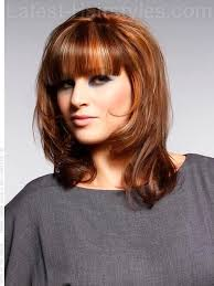 hair bangs short blunt square face 23 perfect medium hairstyles for square faces popular for 2018