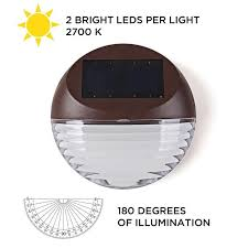 Led Solar Deck Lights - 4pcs led solar lamp 2leds warm white ip55 waterproof outdoor solar