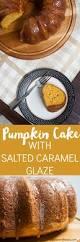 Best Pumpkin Cake Mix by Pumpkin Cake With Salted Caramel Glaze