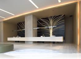 Modern Office Reception Desk by Modern Lobby And Reception Design With Chinese Elements And Unique