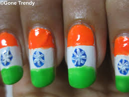 indian flag nail art independence special gone trendy