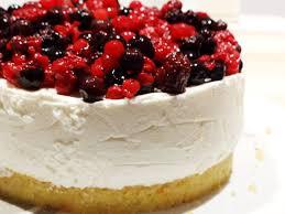 gâteau au fromage blanc et aux fruits rouges muffins