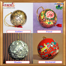 new hanging bell shaped flat metal christmas ornaments decoration