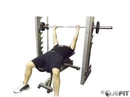 smith machine bench press exercise database jefit best