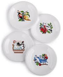 twelve days of set of 4 salad dessert plates