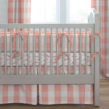 Crib Bedding Etsy by Blankets U0026 Swaddlings Caden Lane Coral Crib Skirt With Bed Bath