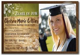 graduation announcment graduation announcement rustic 2016 graduation announcement grad