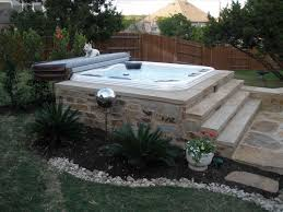 backyard landscaping ideas with tub fleagorcom