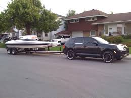 porsche cayenne towing porsche cayenne archive scream and fly powerboat and high