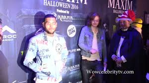 chris brown spotted at maxim halloween party in los angeles youtube