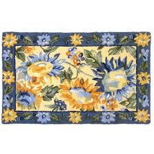 Sunflower Kitchen Rugs 35 Best Sunflower Bathroom Images On Pinterest Sunflower