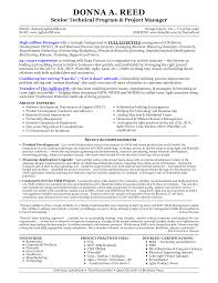 Manager Resumes Senior Project Manager Resume Resume For Your Job Application