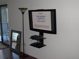 home theater wall mount shelves articulating tv wall mount with component shelf