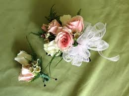 wrist corsage pastel pink and white wrist corsage in murrysville pa
