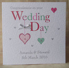 Congratulations On Your Marriage Cards Congratulations On Your Wedding Day Card Ebay